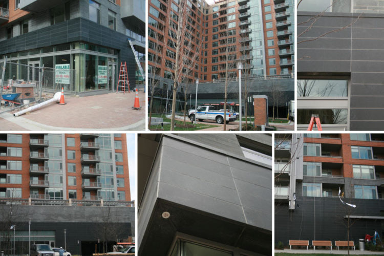 the installation of custom granite facade for commercial building in Washington DC