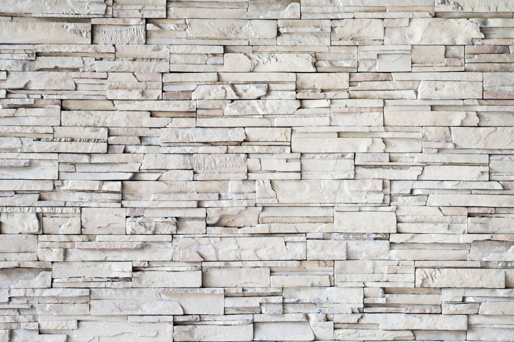 white bricks covering a modern decorative office wall